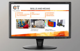 support de communication numérique pour Ceramitec