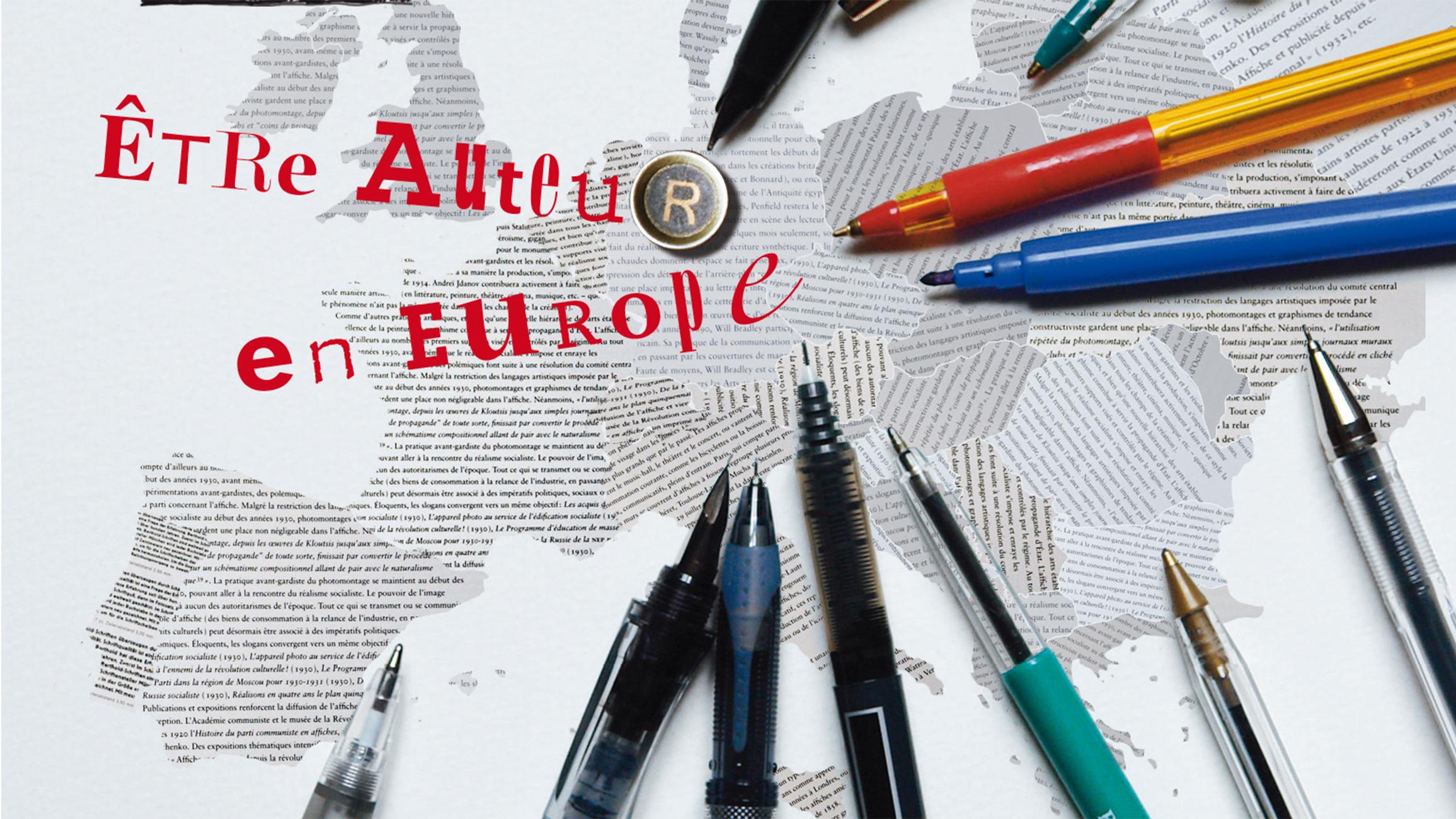 Etre auteur en Europe, couverture du programme.